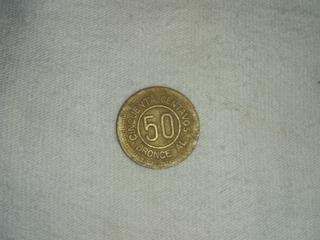 Vendo Moneda 50 Centavos De 1922 De Guatemala