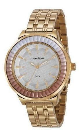 Relógio Feminino Dourado Mondaine 76712lpmvde2 Analógico