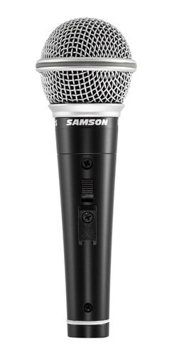 Imagen 1 de 3 de Samson R21s Premium Micrófono Con Switch Pipeta Y Cable Plug