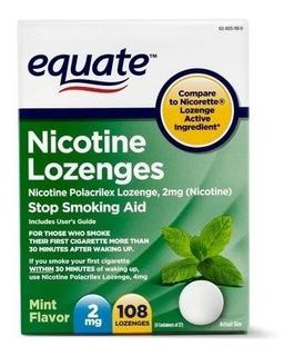 Pastillas Nicorette Generico Nicotina 2mg Menta 108ct