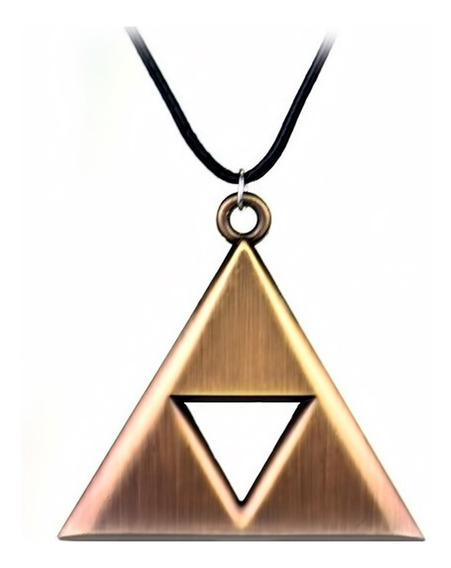 Collar Legend Zelda Triforce Trifuerza Metal Link Nintendo