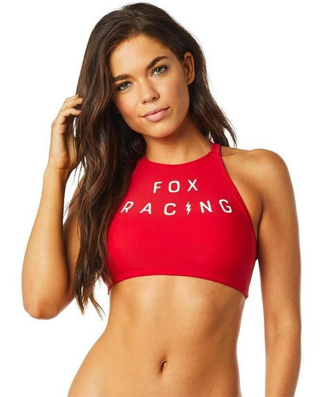 Top Fox Bolt High Neck Halter Para Mujer
