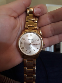 Relógio Seculus Banhado A Ouro