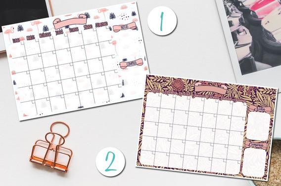 Organizador / Planificador Mensual Imprimible Planner
