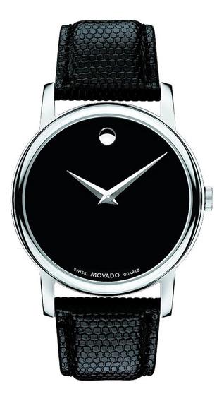 Reloj Movado Cuarzo Suizo Negro Piel Hombre Disponible