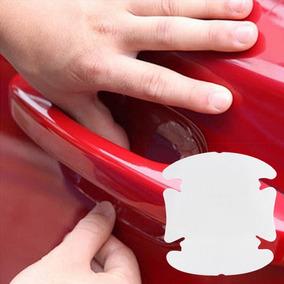 Kit 6 Adesivos Maçaneta Película Protetora Anti-risco Carros