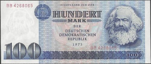 Alemania Democratica 100 Mark 1975 P31a