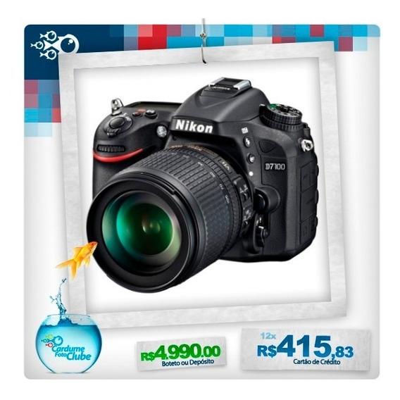 Nikon D7100 Com Objetiva 18-105mm Vr 12 Meses Garantia Br