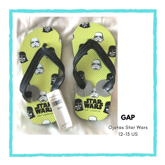 Ojotas Star Wars, Numero 12/13 Us, Gap