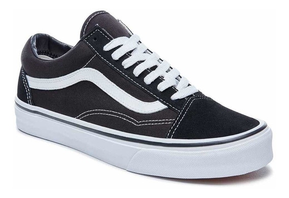 Zapatillas Vans Old Skool Negro /blanco Original Tenelas Ya!