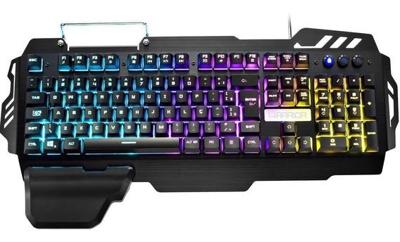 Teclado Gamer Warrior Multilaser Superfície Em Metal Tc210