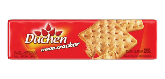 Biscoito Cream Cracker Atacado Duchen Com 40 Pacotes 200g