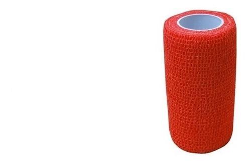 8 Ataduras  Bandagem Vermelha Elástica 7,5x4,5m Bodybuilder