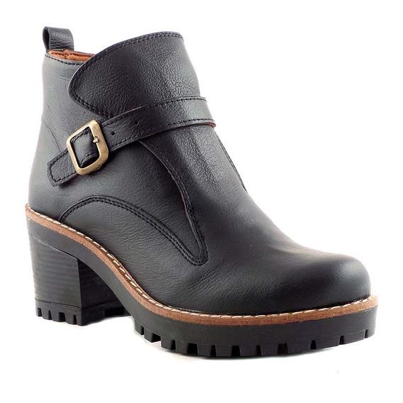 Borcego Mujer Bota Zapato Briganti Cuero Botineta Mcbo24743