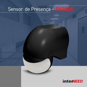 Sensor Iluminação 180° Presença Acende Apaga Parede Preto
