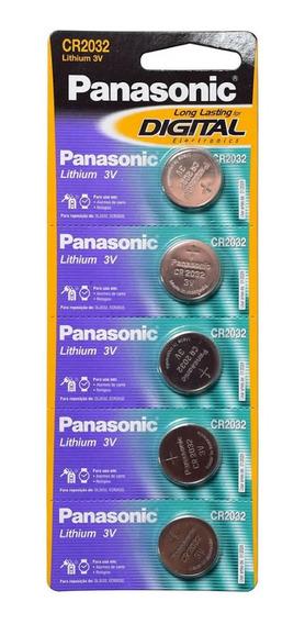 15 Baterias Lithium Botão Cr2032 Panasonic 3 Cartelas