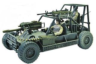 Vehiculo Militar Buggy De Combate Con Soldados Estilo Gijoe