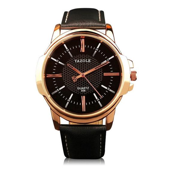 Relógio Yazole 358 Luxo Quartz Analógico De Pulso Masculin