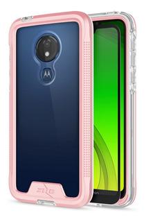 Funda Motorola G7 Power Zizo Ion Triple Capa Con Cristal