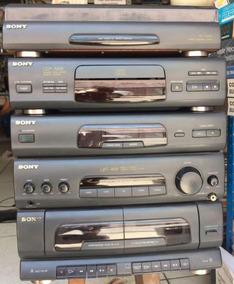 Som Sony Toca Discos, Cd, Rádio E Fitas Completo Funcionando