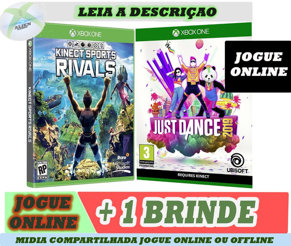 Kinect Sports + Just Dance 2019 + Brinde Offline X Box One