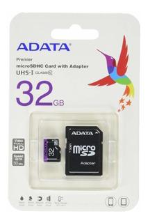 Memoria Micro Sd 32gb Adata Premier Original Clase 10