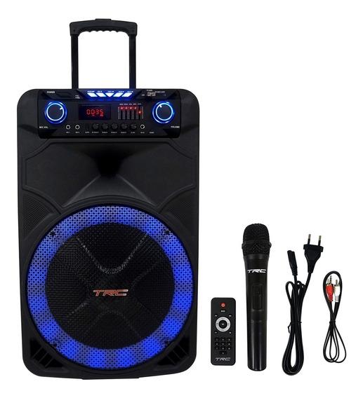 Caixa De Som Amplificada Trc 515 Portátil Bluetooth Usb 500w