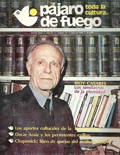 Pájaro De Fuego N° 27_año 1980: Nota A Bioy Casares__sumario