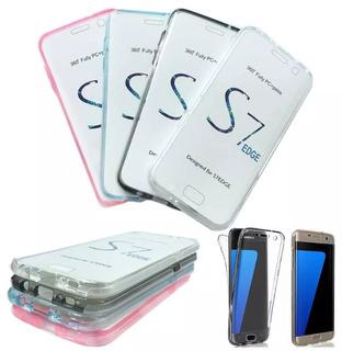 Capa Case Protecao Tela 360 Galaxy S7 Edge Varias Cores
