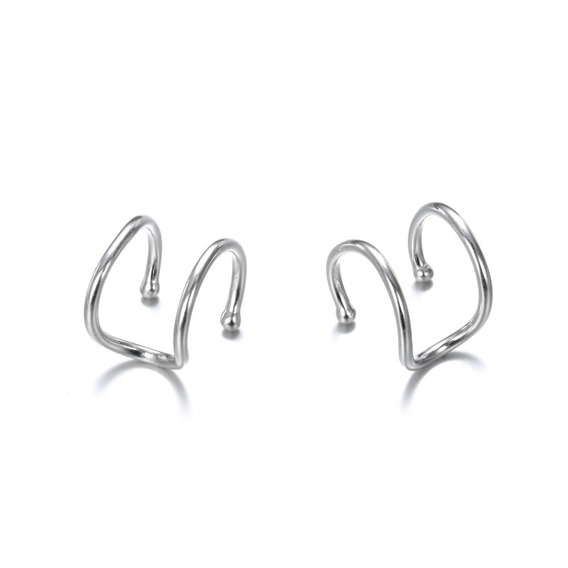 Aretes Ear Cuff Clip Minimalistas Aretes De Plata 925