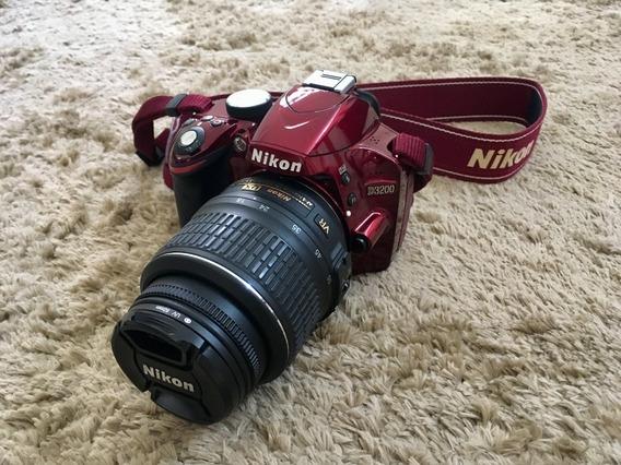 Nikon D3200 Red Dslr