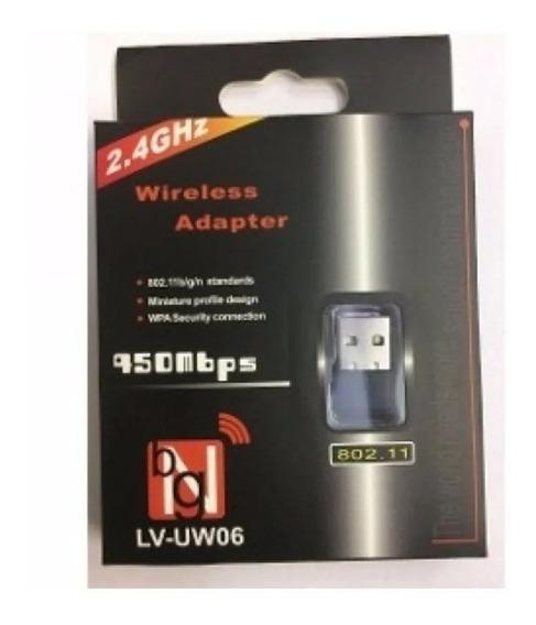 Adaptador Receptor Wireless Usb Wi-fi 450 Mbps Pc Ou Note