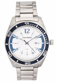 Relógio Mondaine Masculino 53528g0mvna1 Pulseira Prata *