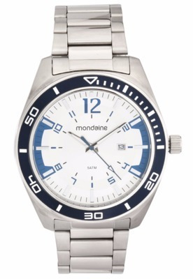 Relógio Mondaine Masculino 53528g0mvna1 Pulseira Prata Fg