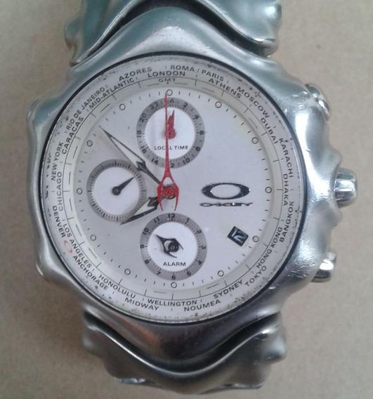Reloj Oakley Gmt Sin Caja En Excelentes Condiciones !