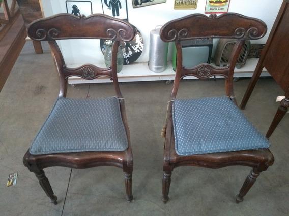 Antiga Cadeira De Jacarandá Colonial