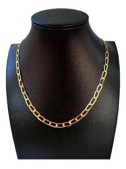 Cordão Masculino Ouro Laminado (batido) 750 (18 K) 60 Cm
