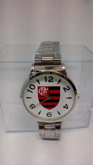 Relógio De Pulso Flamengo Original Pulseira De Metal