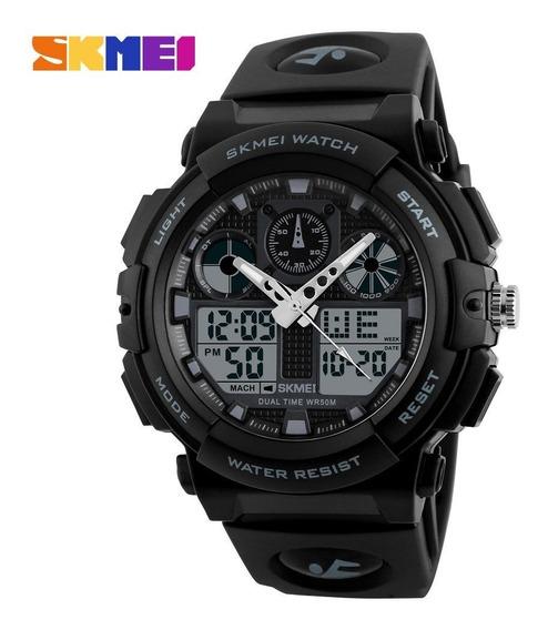 Relógio Skmei 1270 Dual Time Alarme Data 5atm Prova D