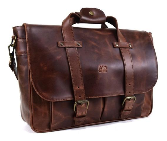 Portafolio Ag Leather Montana 100% Piel Acabado Old West