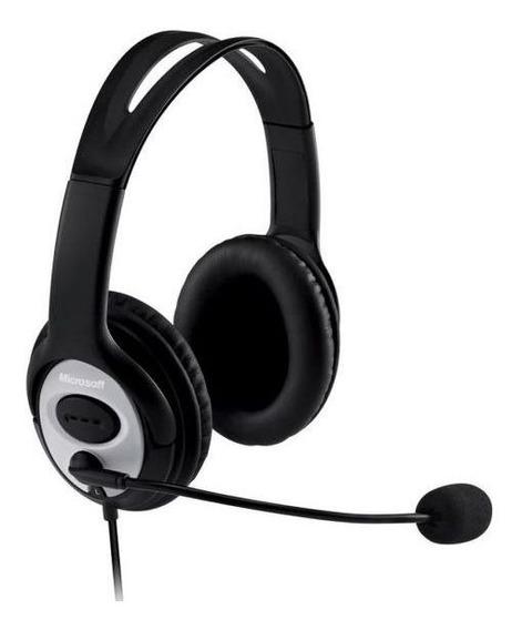 Fone De Ouvido Com Microfone Lifechat Lx-3000 Usb Microsoft
