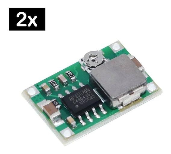 2 Pcs Mini Regulador De Tensão Step Down Buck Dc Dc 360 3a