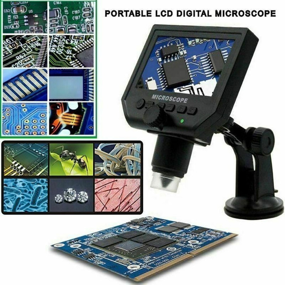 Microscopio Usb Con Pantalla 4.3 Y Bateria 1x A 600x 3.6mp