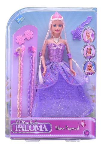 Paloma Muñeca Rapunzel Con Accesorios El Duende Azul Full