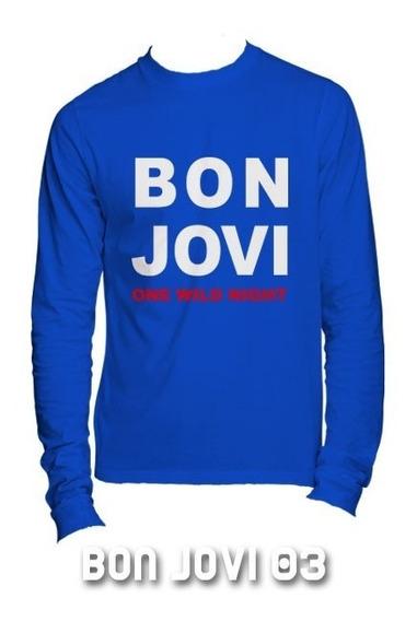 Playeras Bon Jovi Manga Larga - 9 Diseños Disponibles