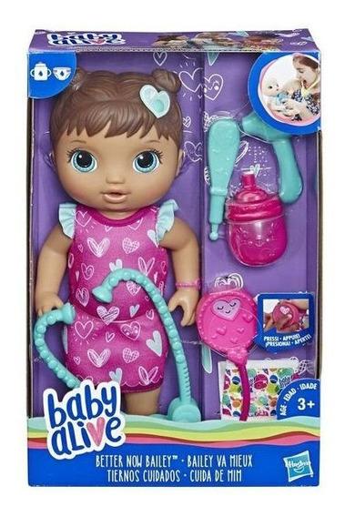 Boneca Baby Alive Cuida De Mim Morena E5837 Hasbro Original