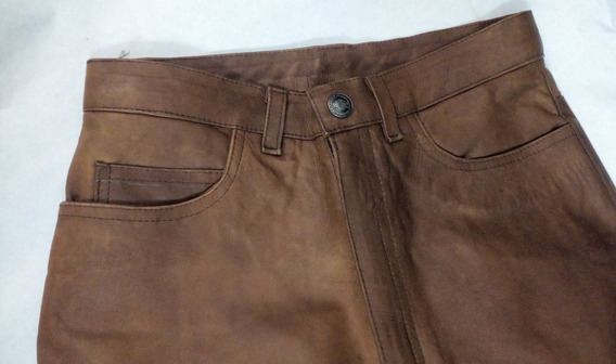 Pantalon De Cuero 100% Genuino Importado Para Dama