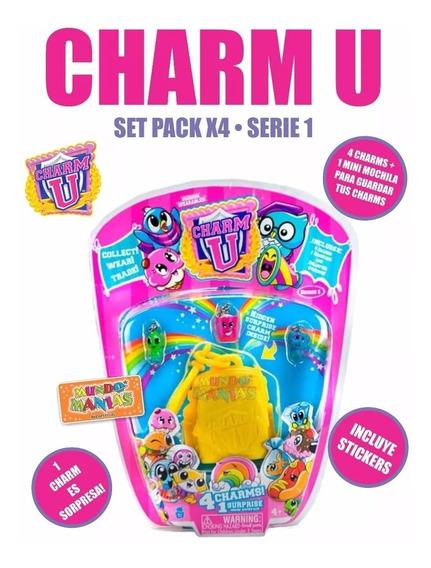 Charm U Pack X4 Dijes Para Pulseras Brazaletes Playking