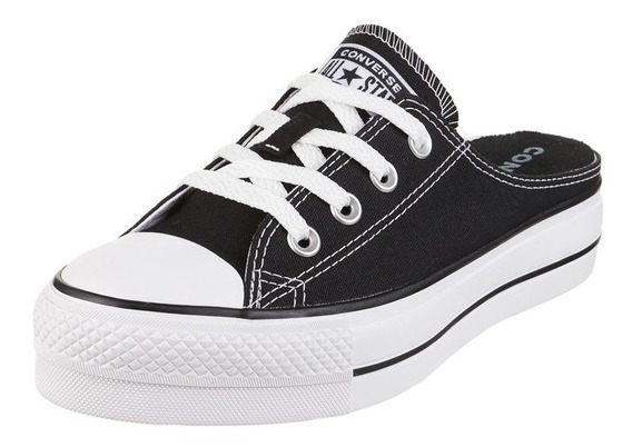 Zapatillas Converse All Star Plataforma Mule Lift Slip Negro