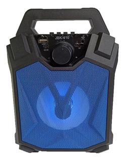 Parlante Portatil Bluetooth Radio Usb Sd Luz Led Inalambrico